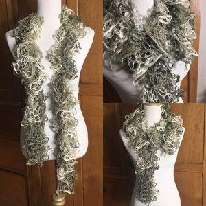 Accessories - Handmade jellyfish scarf grey